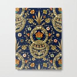 Art Nouveau Floral Pattern Metal Print