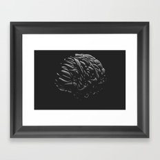 Black Brain Framed Art Print