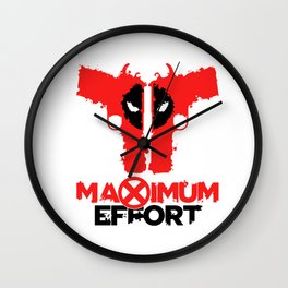 Dead pool Maximum Effort Guns Wall Clock