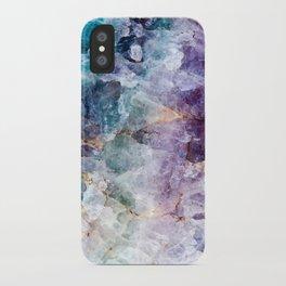 Quartz Stone - Blue and Purple iPhone Case