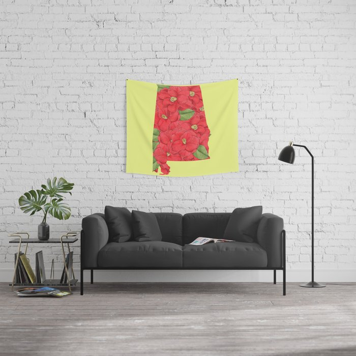 Alabama in Flowers Wall Tapestry