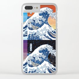 The great wave (collage) Clear iPhone Case