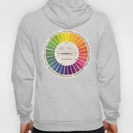 Vintage Color Wheel - Art Teaching Tool - Rainbow Mood Chart Hoody