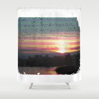 flight Shower Curtains featuring Flight by Last Call