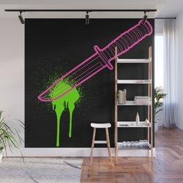 Hot Pink Knife Wall Mural
