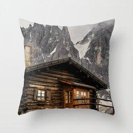 Alpine hut Throw Pillow