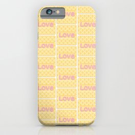 Wafer Cookie Love - Pattern iPhone Case