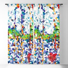 Abstract doodle Starry Night Blackout Curtain