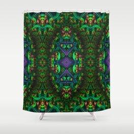 Psychedelic - Forest - Fractal - Manafold Art Shower Curtain