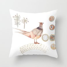 Decorative pheasant Throw Pillow