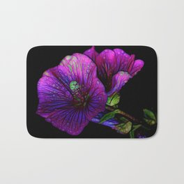Gothic flowers | Purple flowers | Witches flowers | Herbs | Fairy | Fea Bath Mat