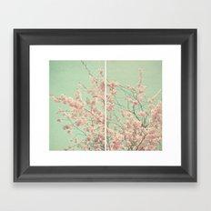 Blossom Diptych Framed Art Print