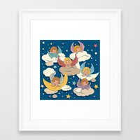 angels Framed Art Prints featuring Angels by Helene Michau