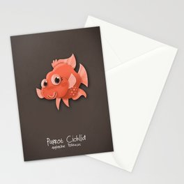 Parrot Cichlid Fish Stationery Cards