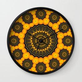Spider webs, Halloween fractal art Wall Clock