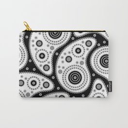 Black And White Paisley Carry-All Pouch
