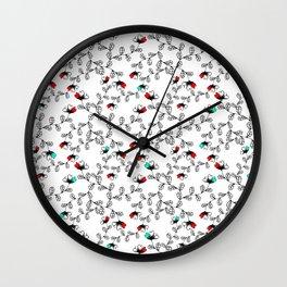 Flower Pattern Wall Clock