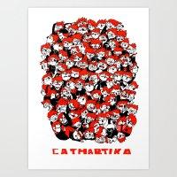 CATHARTIKA (red) Art Print