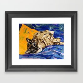 Cat Collage Framed Art Print