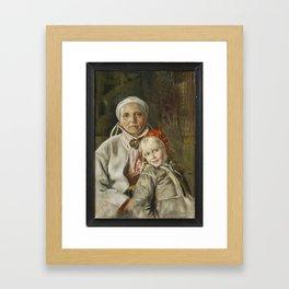 ANDERS ZORN,  Mona och Karin  1885 Framed Art Print
