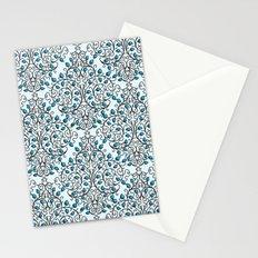 Damask Nature Blue Stationery Cards