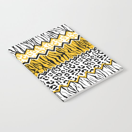 wild stripes pattern Notebook
