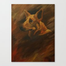 Native American Indian Dog Canvas Print