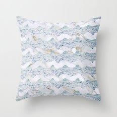 Marble Breeze Throw Pillow