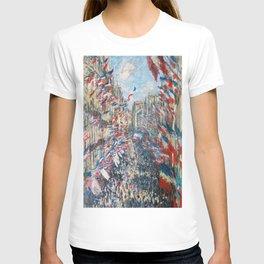 Claude Monet - La Rue Montorgueil T-shirt