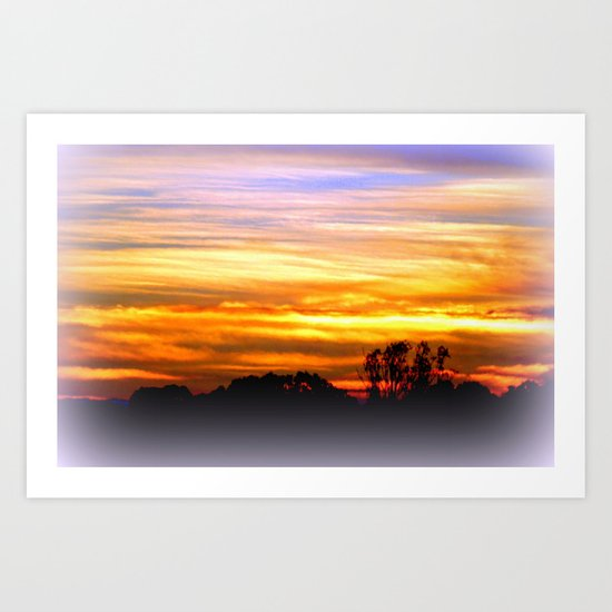 Layers of vibrant Clouds Art Print