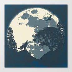 Monotoned Night Time... Canvas Print