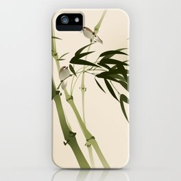 Oriental style painting, bamboo branches iPhone Case