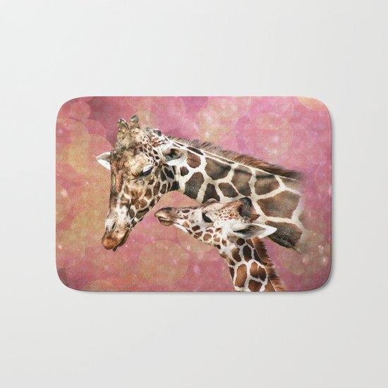 Baby and Mom Giraffe Bath Mat