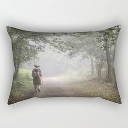 Camino to Santiago de Compostela Rectangular Pillow