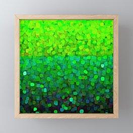 Glitter Sparkles Green Framed Mini Art Print