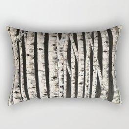 Nighttime in the birch Rectangular Pillow