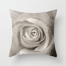 Antique Rose Throw Pillow