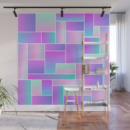 Abstract Holographic Pastel Pattern Wall Mural