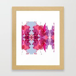 Abstract geometric pattern. Watercolor blot Framed Art Print