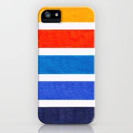 Blue & Orange Stripe Pattern iPhone Case