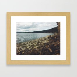 Rock Shore Framed Art Print