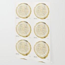Douglas Fir – Gold Tree Rings Wallpaper