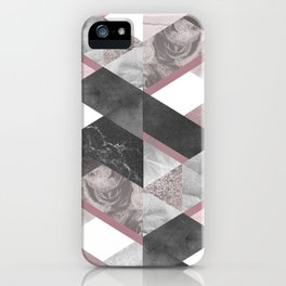 Geometric textured graphic iPhone Case