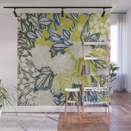 White chrysanthemums -ink floral Wall Mural