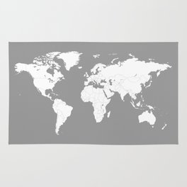 Marking rugs society6 minimalist world map in grey rug gumiabroncs Images