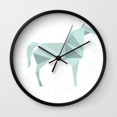Blue Horse by Frzitin Wall Clock