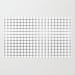 Black Grid Rug