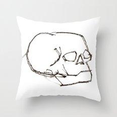 47. Twiggy Skull Throw Pillow