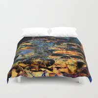 skulls Duvet Covers featuring Skulls By Annie Zeno by Annie Zeno