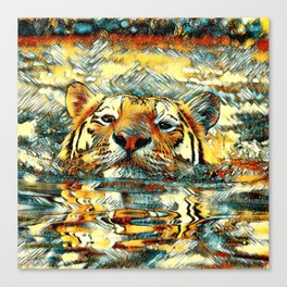 AnimalArt_Tiger_20170601_by_JAMColorsSpecial Canvas Print